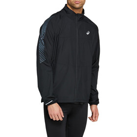 asics Icon Chaqueta Hombre, performance black/carrier grey